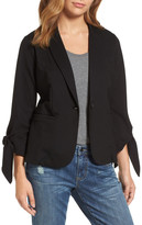 Halogen Tie Sleeve Knit Jacket (Regular & Petite)