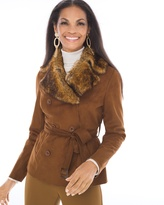 Chico's Faux-Suede Collared Jacket