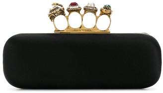 Alexander McQueen Four Ring Clutch Bag