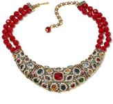 "Heidi Daus Wait No More"" 2-Strand Beaded Crystal Drop Necklace"