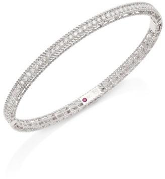 Roberto Coin Symphony Braided Diamond & 18K White Gold Bracelet