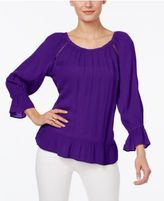 INC International Concepts Crepe Peasant Top, Only at Macy's