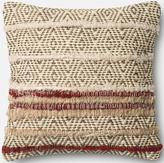 "Striped Jute 18"" Pillow"