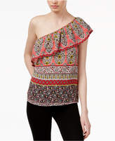 Lily Black Juniors' One-Shoulder Top, Created for Macy's