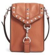 Rebecca Minkoff Biker Phone Crossbody Bag - Brown