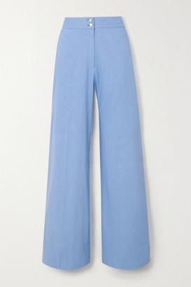 Temperley London Sophia Linen-blend Wide-leg Pants - Lilac