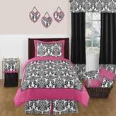 JoJo Designs Sweet Isabella 3-Piece Bedding Set in Hot Pink/Black/White
