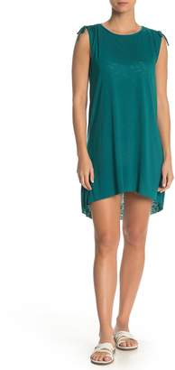 Becca Drawstring Shoulder High/Low Cover-Up Dress