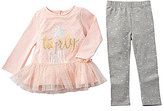 Mud Pie Baby Girls 9-18 Months Sparkle Star Tunic & Dotted Leggings Set