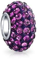 Bling Jewelry Crystal Bead Sterling Silver Charm Fits Pandora