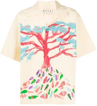 Marni Tree shirt with short sleeves