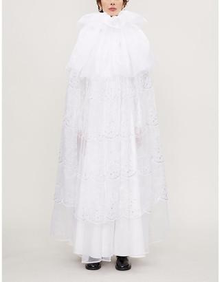 Noir Kei Ninomiya High-neck organza maxi dress
