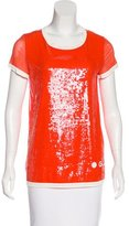 Jean Paul Gaultier Sequined Short Sleeve Top
