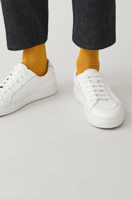 Cos Tall Ribbed Cotton Socks