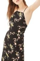 Topshop Women's Floral Square Neck Midi Dress