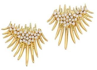 Hueb 18K Yellow Gold & Diamond Fan Spike Earrings