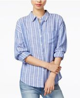 Velvet Heart Lina Striped Roll-Tab Shirt
