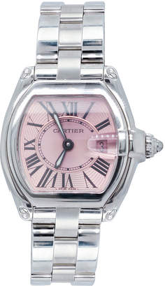 Cartier Pre-Owned 31mm Roadster Watch with Bracelet Strap, Pink/Silver
