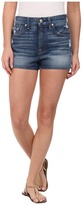 7 For All Mankind Extreme High Waist Shorts w/ Clean Finish Hem in True Heritage Blue