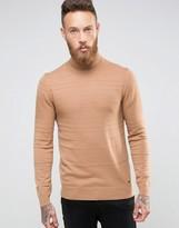 HUGO BOSS HUGO by Roll Neck Sweater Texture Stripe