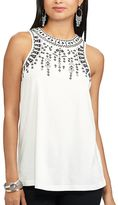 Chaps Petite Embroidered Tank