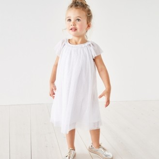 The White Company Glitter Sparkle Tulle Dress (1-6yrs) , Silver, 2-3yrs