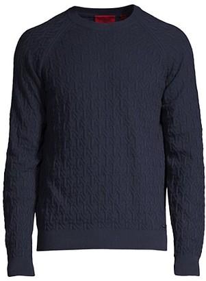 HUGO BOSS Subonar Textured Crewneck Sweater