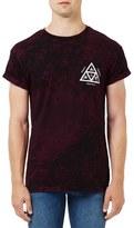 Topman 'Omega' Graphic Crackle Print T-Shirt