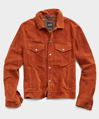 Todd Snyder Italian Dylan Suede Jacket in Rust