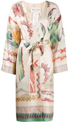 Etro Floral Patterned Wrap Jacket