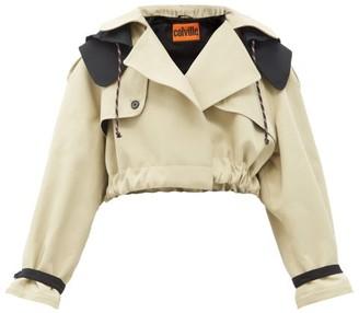 Colville - Cropped Cotton-blend Hooded Jacket - Beige