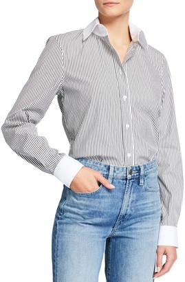 Lafayette 148 New York Davitt Centennial Stripe Button-Down Shirt