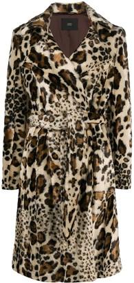Steffen Schraut Leopard-Print Belted Coat
