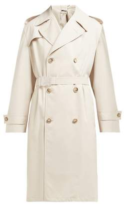 Maison Margiela Double Breasted Twill Trench Coat - Womens - Beige
