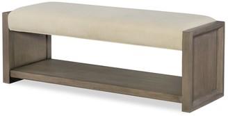 Legacy Classic Furniture Highline Greige Upholstered Bench