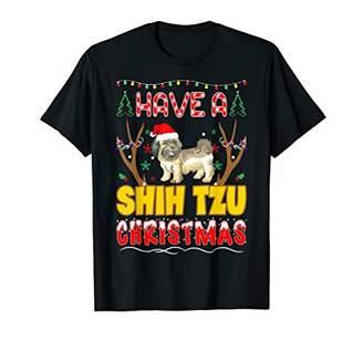 Shih Have A Tzu Christmas Pet Lovers Gift T-Shirt