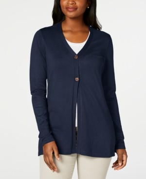 Karen Scott Button Cardigan, Created for Macy's