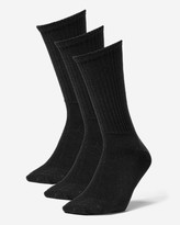 Eddie Bauer Men's Solid Crew Socks - 3 Pack