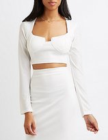 Charlotte Russe Notched Bustier Crop Top