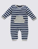 Marks and Spencer Pure Cotton Striped All-in-One