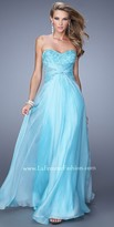 La Femme Embellished Lace Prom Dress