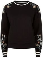 Maje Tacko Embroidered Sweatshirt