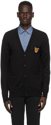 Moschino Black Wool Teddy Cardigan