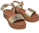 Linzi Womens Havannah Espadrille Wedge Sandals Gold