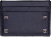 Valentino Navy Big Rockstud Card Holder