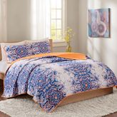 Intelligent Design Minnet Full/Queen Reversible Quilt Set in Blue