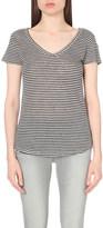 Paige Lynnea linen-jersey t-shirt