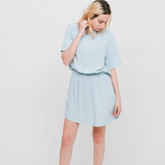 Wemoto Lightblue Poetry Dress - S - Blue