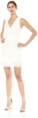 Keepsake Women's MOONLIGHTERS V Neck Mini Dress with LACE Trim