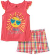 Kids Headquarters 2-Pc. Hello Sunshine Top and Shorts Set, Baby Girls (0-24 months)